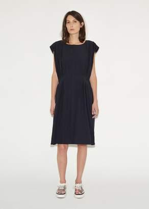 Julien David Soft Washed Cotton Dress Navy