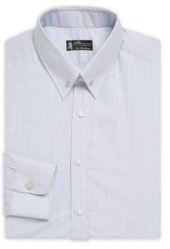 Mini Dot Cotton Button-Down Dress Shirt