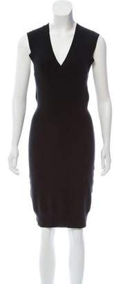 ATM Anthony Thomas Melillo Silk Blend Knitted Knee-Length Dress