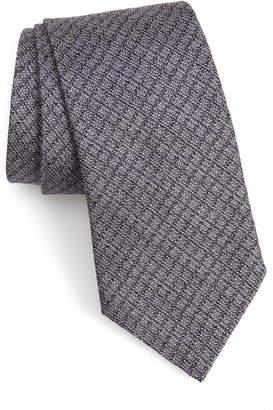 John Varvatos Check Silk Tie