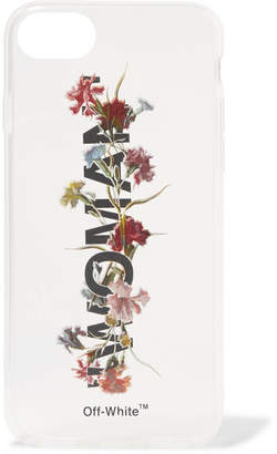 Off-White Printed Acrylic Iphone 8 Case - Clear