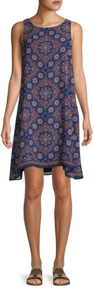 Max Studio Sleeveless Printed Swing Dress