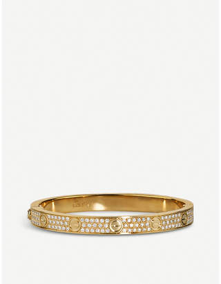 Cartier Love 18ct yellow-gold and diamond bracelet