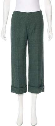 Max Mara Cropped Silk Pants