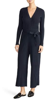 Rachel Roy Collection Long Sleeve Ribbed Jumpsuit