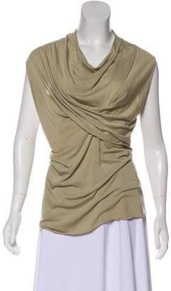Rick Owens Lilies Cowl Neck Knit Top