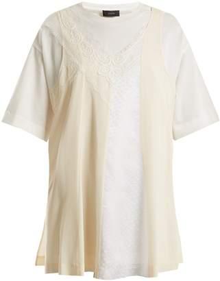 Joseph Overlay-detail cotton T-shirt