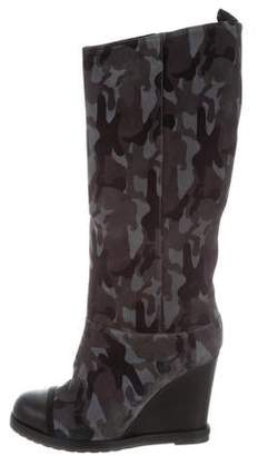 Chuckies New York Suede Wedge Boots