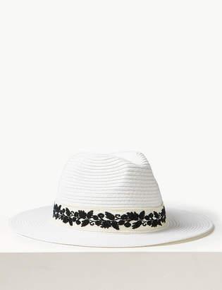 9c0ef38d61283 Marks and Spencer Craft Fedora Sun Hat