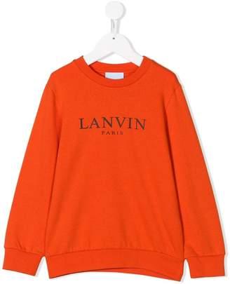 Lanvin Enfant logo printed sweatshirt