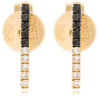 Ef Collection 2tone Diamond Bar Stud Earrings