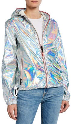 Hunter Packable Metallic Jacket w/ Contrast Zips