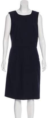 Tory Burch Structured Sleeveless Midi Dress