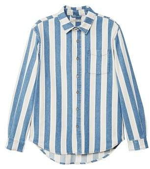 Mango man MANGO MAN Striped denim regular-fit overshirt