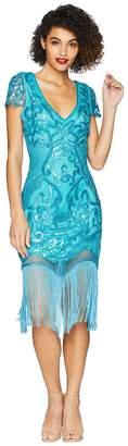 Unique Vintage Aurore Flapper Dress Women's Dress