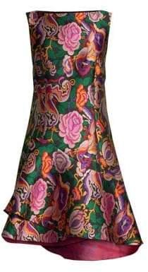 Etro Floral Jacquard Boatneck Dress