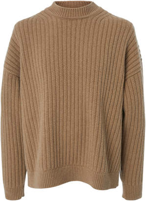Jil Sander Ribbed Drop Shoulder Mockneck Sweater