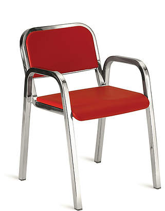Design Within Reach Emeco Nine-0 Stacking Armchair - Soft Back, Red at DWR