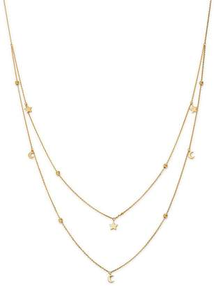 """Moon & Meadow Double-Strand Star & Moon Station Necklace, 22"""" - 100% Exclusive"""
