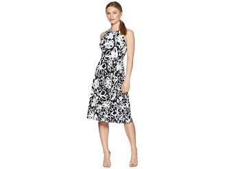 Lauren Ralph Lauren Petite B551 Coastal Floral Feliana Sleeveless Day Dress