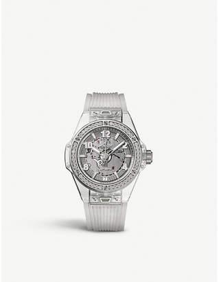 Hublot Big Bang sapphire crystal and diamond watch