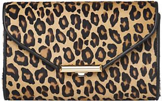 At John Lewis And Partners Lk Bennett L K Sissi Leopard Print Clutch Bag Neutral