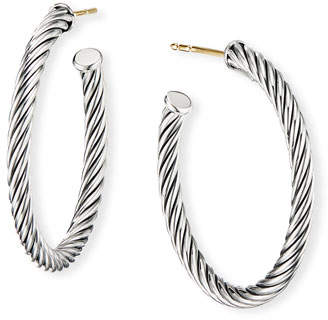 "David Yurman Cablespira Hoop Earrings, 1"""