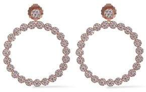 Kenneth Jay Lane Cz By Rose Gold-Tone Crystal Hoop Earrings