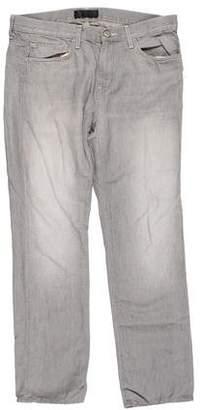 J Brand Kane Linen-Blend Slim-Fit Jeans