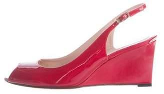 Stuart Weitzman Slingback Wedge Sandals