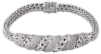 John Hardy Pavé Diamond Swirl Chain Bracelet