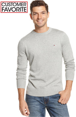 Tommy Hilfiger Men's Big & Tall Signature Solid Crew Neck Sweater $59.50 thestylecure.com