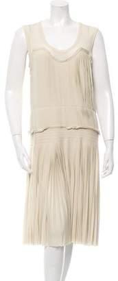 Vera Wang Sleeveless Pleated Dress $200 thestylecure.com