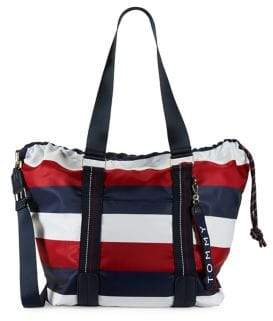 Tommy Hilfiger Striped Jaen Convertible Tote Bag