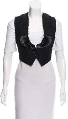 Chloé Sequin Wool Vest