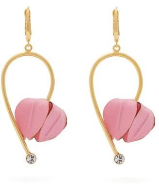 Marni Flower Drop Earrings - Womens - Pink