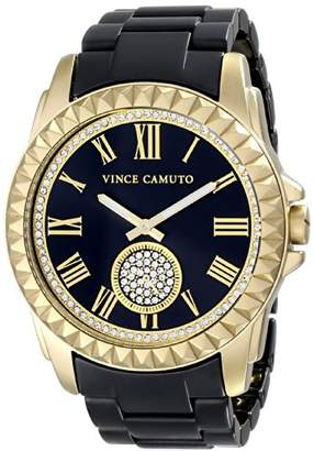 Vince Camuto Women's VC/5190GPBK Gold-Tone and Matte Black Ceramic Bracelet Watch