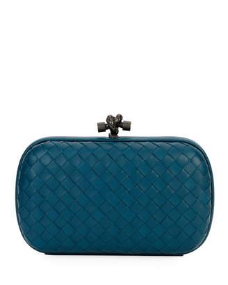 676aecb066d Bottega Veneta Leather Woven Knot Box Clutch Bag