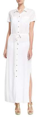 Heidi Klein Maine Maxi Shirtdress Coverup