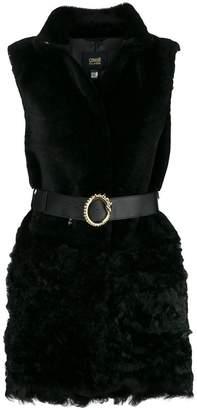 Class Roberto Cavalli belted fur gilet