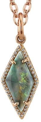 Irene Neuwirth Lightening Ridge Opal And Diamond Pavé Charm