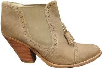 Paul & Joe Beige Leather Ankle boots