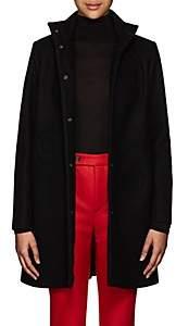 Lisa Perry Women's Circular-Seam Wool-Blend A-Line Coat-Black