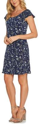 CeCe Graceful Flora Puff Sleeve Dress