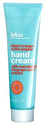 Bliss blood orange+white pepper hand cream 1 oz
