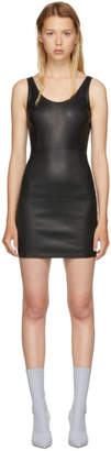Alexander Wang Black Stretch Leather Mini Dress