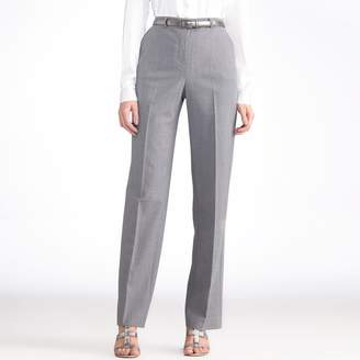 Anne Weyburn Wool Blend Straight Trousers, Length 30.5""