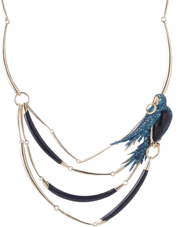 Alexis BittarFeathered Parrot Bib Necklace