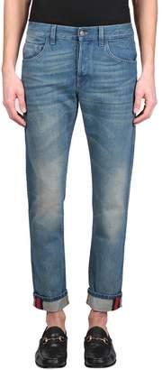 Gucci Web Cotton Denim Jeans