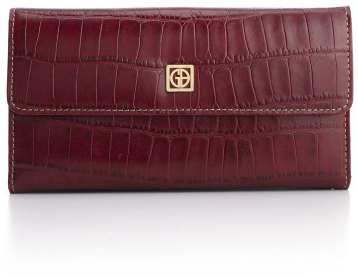 Giani Bernini Wallet, Croc Embossed Flap Clutch